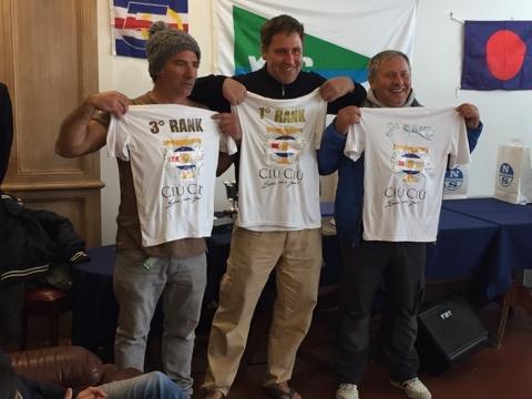 podio della regata nazionale Contenderdi Chiavari