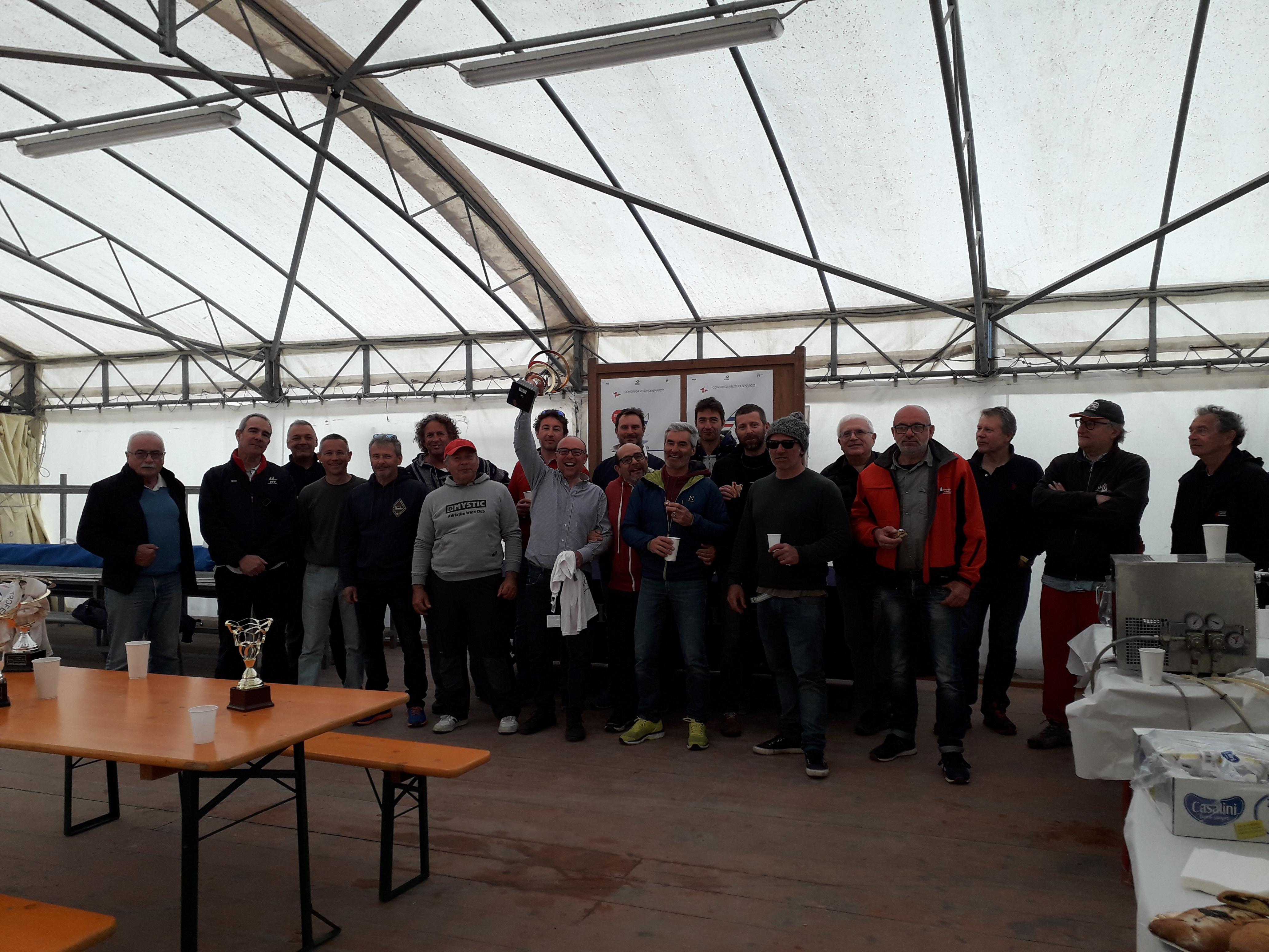 podio regata contender trofeo carlini cesenatico