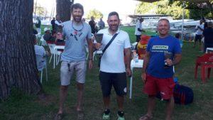 podio della regata contender di Bracciano 2020