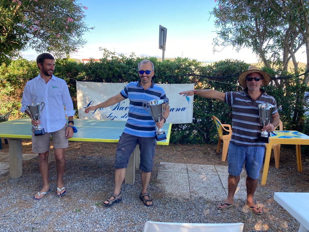 podio della regata contender di follonica 2020